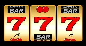 777. Winning in slot machine.